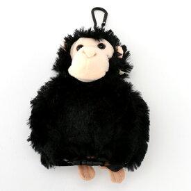 【 チンパンジーののびーるポーチ! 】 チンパンジーパスポーチ / パスケース おもしろ ぬいぐるみポーチ アニマル 動物 (ネコポス不可) [ZKクリアランス40] 4000円以上 送料無料 あす楽