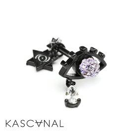【KASCANAL-CROW-】HirakimeNAMIDA -EYECON- / ブラック 裏表デザイン 後ろから見ても可愛い こだわりピアス ユニーク 変わった形 つけっぱなし (ネコポスOK) 3980円以上 送料無料