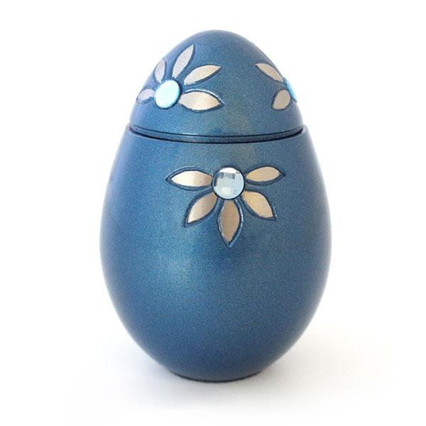ミニ骨壷|グランブルー|シャインフラワー(真鍮製)