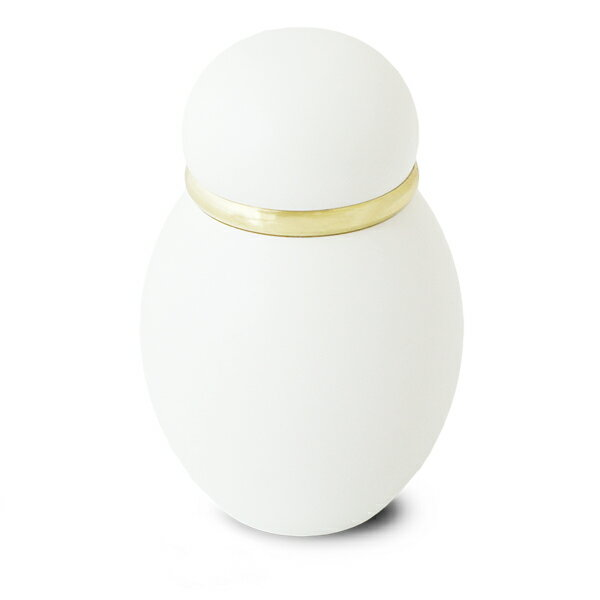 ミニ骨壷|パステル|ホワイト(真鍮製)