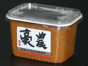 味噌【豪農500g】新潟コシヒカリ米糀 新潟老舗蔵元の高級 みそ 「豪農」500g