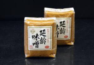 味噌 【延齢1kg】新潟米糀 新潟老舗蔵元の高級淡色仕上げ みそ 「延齢」1kg
