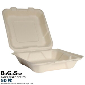 紙 バガスフードパック(CS-8B MBP)50枚 紙皿 おしゃれ 業務用