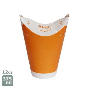 バタフライカップ12オンス 375ml(コールドシングルオレンジ)業務用 800個 シモジマ