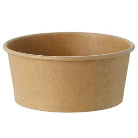 HEIKO アイスカップ 紙容器 業務用 未晒しクラフト(270ml)115-270 両面PE 50個