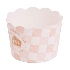 マフィンカップ スイート柄ピンク 100個