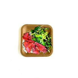使い捨て 紙皿(角)未晒し 18cm 50枚 /おしゃれで、かわいい ナチュラルカラーが人気の使い捨て紙皿。