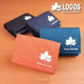 財布 メンズ 三つ折り財布 小さい財布 極小財布 軽い 軽量 カジュアル 布 スポーティ コンパクト おでかけ ロゴス LOGOS【コンビニ受取対応可能商品】