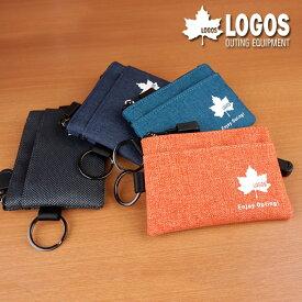 小銭入れ コインケース パスケース メンズ 軽い 軽量 ポリエステル カジュアル おでかけ LOGOS 送料無料 ゆうパケット