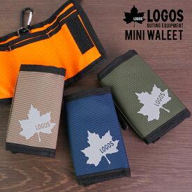 財布 コンパクト ミニ ミニウォレット 小さい財布 小さい 三つ折り 3つ折り ショートウォレット メンズ 軽い 軽量 ポリエステル カジュアル おでかけ LOGOS 送料無料 ゆうパケット