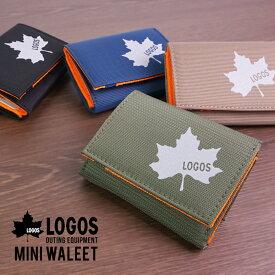 財布 三つ折り コンパクト ミニ ミニウォレット 小さい財布 小さい 3つ折り ショートウォレット メンズ 軽い 軽量 ポリエステル カジュアル おでかけ LOGOS 送料無料 ゆうパケット