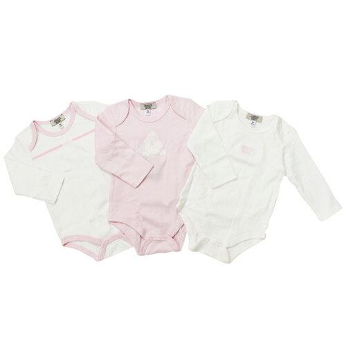 アルマーニ ベビー ARMANI BABY ベビー服 出産祝いギフト 長袖ロンパース 3点セット SK8015DPK