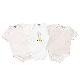 アルマーニ ベビー ARMANI BABY ベビー服 出産祝いギフト 半袖ロンパース 3点セット CK801PK