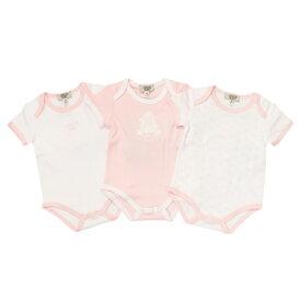 アルマーニ ベビー ARMANI BABY ベビー服 出産祝いギフト 半袖ロンパース 3点セット OK802AKPK