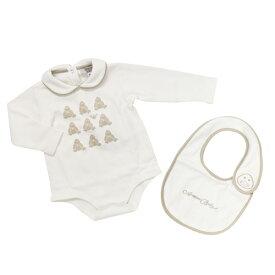 アルマーニ ベビー ARMANI BABY ベビー服 出産祝いギフト 2点セット (長袖ロンパース・スタイ) BKT16WHT【ラッピング無料】