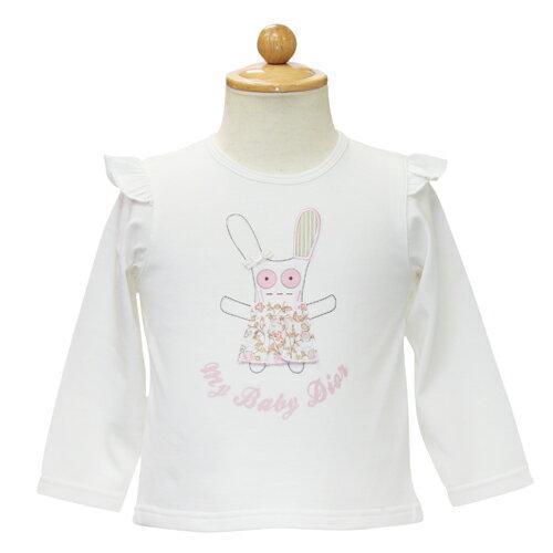 ベビーディオール Baby Dior ボタン付き 長袖Tシャツ ロンT CD-0137WHT 【あす楽対応】【のし対応】【ブランド子供服】