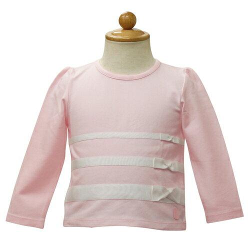 ベビーディオール Baby Dior リボン付き 長袖Tシャツ ロンT CD-0250PK 【あす楽対応】【のし対応】【ブランド子供服】