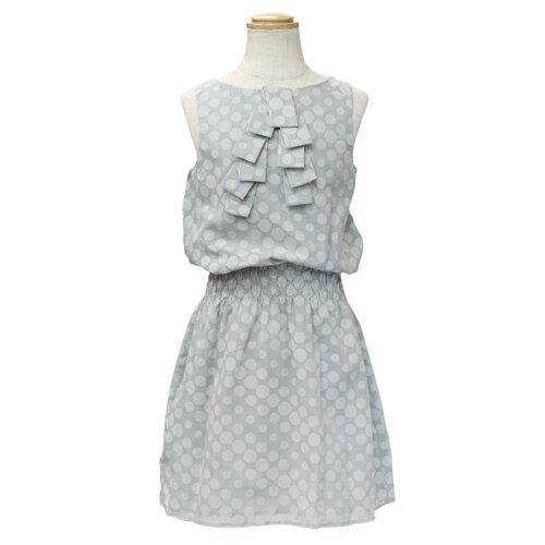 クリスチャン ディオール Christian Dior ノースリーブ 子供ドレス ワンピース フォーマルドレス CD-0277GRY 【ブランド子供服】