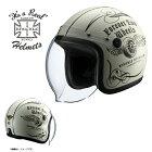 ライズ(RIDEZ)シールド付きジェットヘルメットKNUCKLEHEAD(ナックルヘッド)フライホイール2アイボリー/ブラック