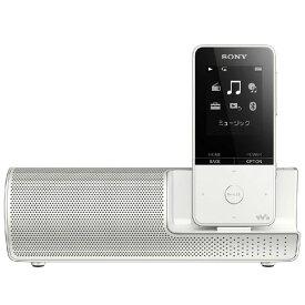 オーディオプレーヤー ウォークマン ソニー SONY NW-S315K ホワイト Sシリーズ スピーカー用AC電源アダプター付属 コンパクト スリム 新品 送料無料