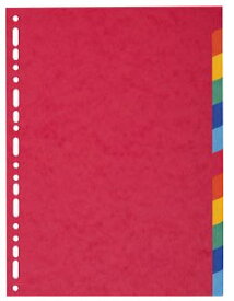 【EXACOMPTA エグザコンタ】カラーインデックス 12分割 EX1412文房具 文具 デザイン おしゃれ ステーショナリー デザイン おしゃれ 海外 輸入 デザイン文具ならイーオフィス