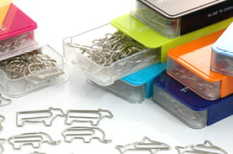 Very popular! D-CLIPS animal or vehicle-shaped paper clips ディークリップス