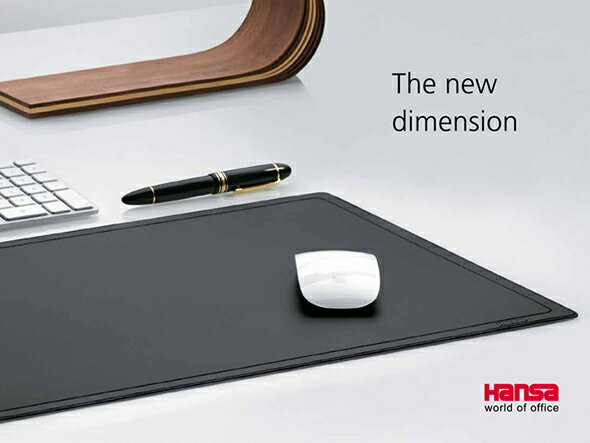【Hansa/ハンサ】コンピューターマット 4160110【ハンサ マウスパッド デスクマット おしゃれ 入学祝 筆記具】【デザイン文具ならイーオフィス】