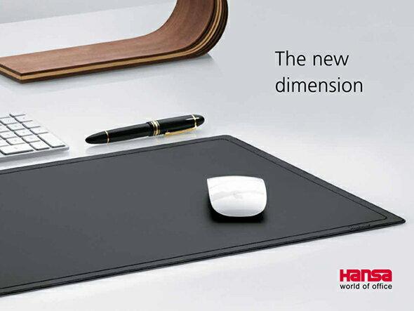 【Hansa ハンサ】コンピューターマット 4160110【ハンサ マウスパッド デスクマット 透明 ピンク ブラック ブルー おしゃれ 入学祝 筆記具】【デザイン文具ならイーオフィス】