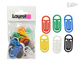 LAUREL ローレル アーチキングクリップ 30個入り 1366-95プラスチック 文房具 ステーショナリー カラフル 書類 整理 便利 デザイン 海外 輸入 プチギフト かわいい 小学生 中学生 大学生 大人