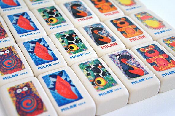 【MILAN ミラン】キャラクター消しゴム 424a けしごむ 消しゴム 文房具 文具 ステーショナリー 入園 卒園 入学 引っ越し お祝い プチギフト ばら キッズ こども デザイン おしゃれ かわいい 海外 輸入 デザイン文具ならイーオフィス