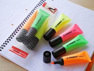 【STABILO】スタビロネオンセットNEON 4C 72-4-1蛍光ペン マーカー ペン 筆記具 文房具 文具 デザイン おしゃれ ステーショナリー 輸入 デザイン おしゃれ 海外 輸入 デザイン文具ならイーオフィ