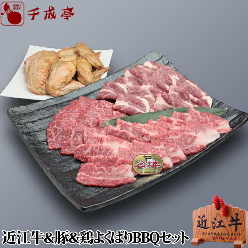 【送料込み】近江牛&豚&鶏よくばりBBQセット