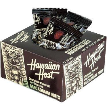 【ハワイお土産がポイント10倍&2,990円以上送料無料!】ハワイアンホーストマカダミアナッツチョコボックス1箱(ハワイチョコレート)