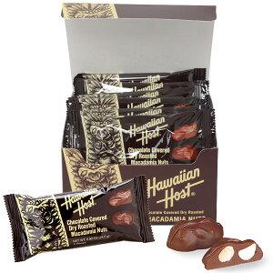 ハワイアンホースト Hawaiian Host マカダミアナッツチョコTIKIバー2粒12袋セット【ハワイ お土産】|チョコレート お菓子 ハワイ チョコレート