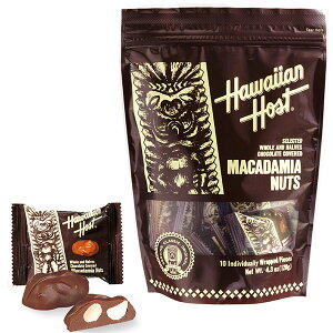 ハワイアンホースト Hawaiian Host マカダミアナッツチョコTIKI スタンドバッグ9粒【ハワイ お土産】|チョコレート お菓子 ハワイ チョコレート