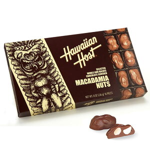 ハワイアンホースト Hawaiian Host マカダミアナッツチョコTIKI 16粒入1箱【ハワイ お土産】|チョコレート お菓子 ハワイ チョコレート