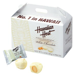 ハワイアンホースト ホワイトマカダミアナッツチョコ ミニボックス 1箱【ハワイ お土産】|マカダミアナッツチョコレート ハワイ土産 ばらまき おみやげ お菓子