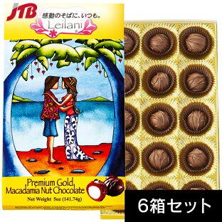 【ハワイチョコレートがポイント10倍&送料無料!】スイートレイラニプレミアムマカダミアナッツチョコ15粒入6箱セット(ハワイお土産)