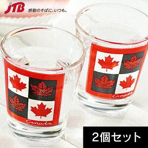 カナダ ショットグラス2個セット【カナダ お土産】|グラス・食器 カナダ 雑貨 カナダ土産 おみやげ