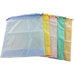 カラー巾着パステル(2013) 5枚セット SWT|トラベルグッズ 旅行用品 仕分け トラベル用品 旅行グッズ 日本製