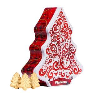 【今ならポイント15倍!12月4日20:00〜11日11:59】ウォーカー クリスマスツリー缶(レッド&ホワイト)【イギリス】|クッキー ウォーカー ショートブレッド クリスマス Christmas お菓子 詰め合