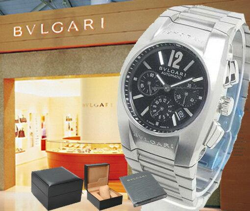 BVLGARI ブルガリ 腕時計 エルゴン クロノグラフ EG35BSSDCH ブラック ボーイズ