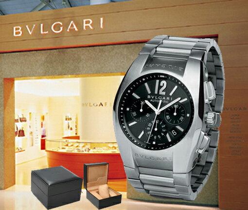 BVLGARI ブルガリ 腕時計 エルゴン クロノグラフ EG40BSSDCH ブラック メンズ