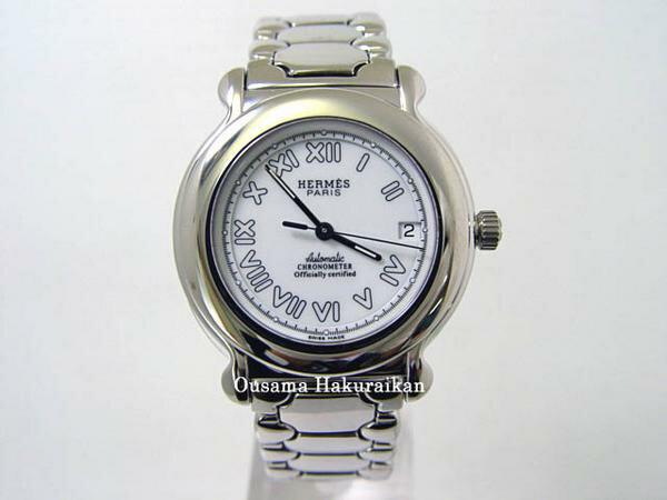 【特典付き】 HERMES エルメス 腕時計 ケプラー SS ブレス ホワイト メンズ -新品