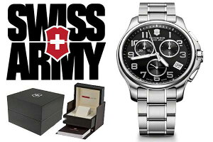 VICTORINOXビクトリノックスSWISSARMY腕時計241453ブラック×シルバーメンズ【smtb-k】【w3】【楽ギフ_包装】