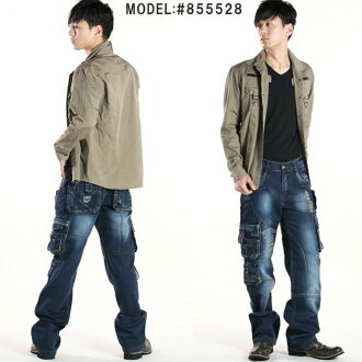 Size cargo pant 02P07Nov15 which カーゴパンツメンズデニムジーンズメンズカーゴデニムカーゴストレートジーンズインディゴデニムユーズド processing jeans have a big