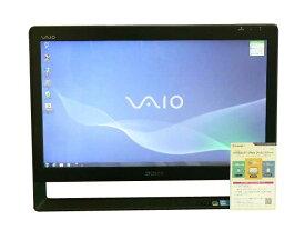 SONY デスクトップパソコン 中古パソコン VPCJ138FJ ブラック デスクトップ 一体型 本体 Windows7 Core i5 ブルーレイ 地デジ/BS/CS 4GB/1TB 送料無料 【中古】