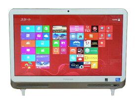 東芝 デスクトップパソコン 中古パソコン D712/V3G ホワイト デスクトップ 一体型 本体 Windows8 Celeron DVD 地デジ 4GB/500GB 送料無料 【中古】
