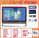デスクトップパソコン 中古パソコン VN370/D ブラック デスクトップ 一体型 Windows7 NEC Kingsoft Office付き Celeron DVD 地デジ 4GB…
