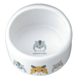 [マルカン]陶器製ハムちゃんのフード付食器